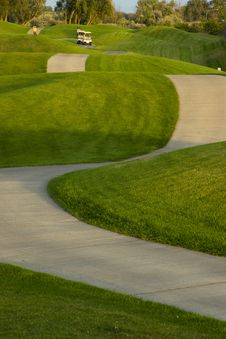 Free In The Fairway Golf Carts Make Way Down Ninth Hole Stock Images - 24937084