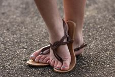 Free Sandals And Feet Royalty Free Stock Photos - 24937958