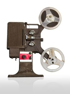 Free Analogue  Movie Projector With Reels Stock Images - 24938984