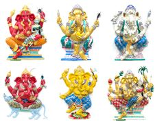Hindu Ganesha God Stock Images