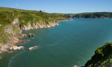 Free Devon Coast At The Mouth Of The River Dart Estuary In Devon Royalty Free Stock Photos - 24939308