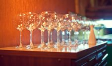 Free Empty Glasses Royalty Free Stock Image - 24947816