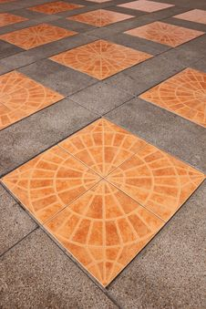 Orange Square Tiles Stock Image