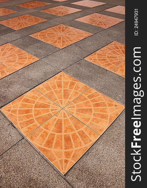 Orange square tiles