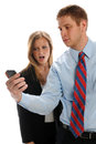 Free Young Businesspeople With Cell Phone Stock Image - 24952241