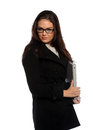 Free Young Businesswoman Holding A Folder Stock Photo - 24952900