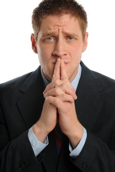 Free Young Businessman Worrying Stock Image - 24952471