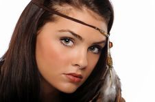 Free Portrait Of Young Beautiful Brunette Royalty Free Stock Photography - 24952807