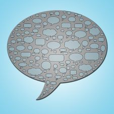 Speech Bubble In Speech Bubble 2 Stock Image