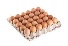 Carton Of Fresh Brown Eggs Royalty Free Stock Image