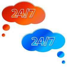 Free Two Service Icon Stock Images - 24971604