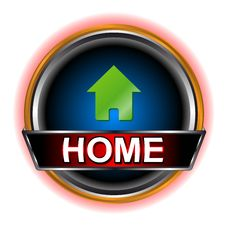 Free Home Web Icon Royalty Free Stock Photos - 24971728