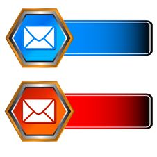 Three Mail Icons Stock Photos