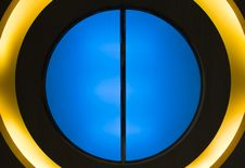 Free Textured Circle Blue, Black And Yellow. Stock Image - 24973681