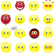 Free Smileys, Icons Stock Photos - 24974183