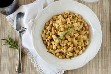 Free Pasta And Chickpeas Royalty Free Stock Photo - 24974235
