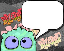 Free Bizarre Creature With Speech Bubble Royalty Free Stock Image - 24975906
