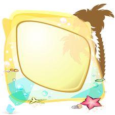 Free Tropic Sea Speech Bubble Stock Photo - 24975910