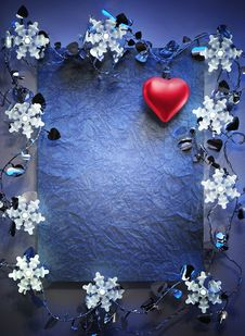 Free Blue Christmas Frame Royalty Free Stock Images - 24977249