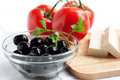 Free Olives In A Clear Salad Bowl Stock Images - 24989694