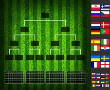 Soccer &x28; Football &x29; Tounament Map Royalty Free Stock Photography