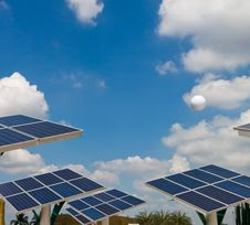 Solar Energy Power Plant. Royalty Free Stock Photos