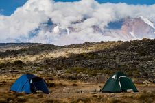 Free Tent Camp On Mount Kilimanjaro Royalty Free Stock Images - 24985669
