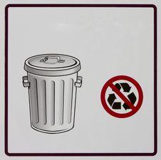 Free Garbage Sign Royalty Free Stock Images - 24987179