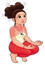 Free Yoga Position. Royalty Free Stock Photo - 24996175