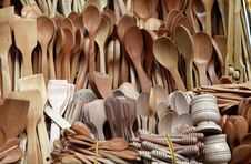 Free Wooden Spoon Royalty Free Stock Images - 24990039