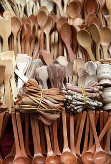 Free Wooden Spoon Stock Photo - 24990110