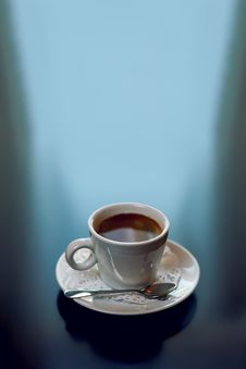 Free Coffee On Dark Stock Images - 24991874