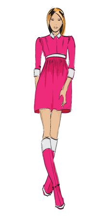 Free Fashion Girl. Royalty Free Stock Photos - 24992948