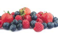 Free Blueberries, Raspberries And Strawberries Royalty Free Stock Photo - 24998035