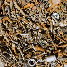 Assorted Nuts And Bolts Royalty Free Stock Photography