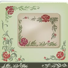 Free Vintage Floral Corner Decoration Design Set Stock Photography - 24999422