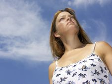 Free Woman And Sky 2 Stock Photography - 250202