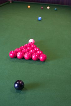 Free Snooker Balls Royalty Free Stock Photo - 250725