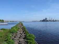 Path Into Daugava Royalty Free Stock Photo
