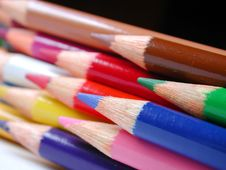Free Pencil Crayons Royalty Free Stock Photography - 251887