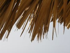 Free Straw Sunshade Close-up Royalty Free Stock Photo - 253605