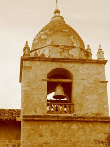 Free Mission Bell In Sepia Royalty Free Stock Photos - 254148