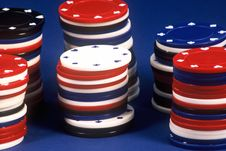 Free Poker Chips Royalty Free Stock Photos - 254428