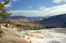 Free Top Of Mammoth Hot Springs With Photographers Stock Photography - 254962