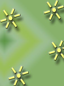 Free Green And Yellow Flower Background Royalty Free Stock Images - 257179