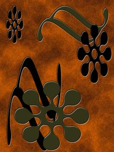 Free Bronze Floral Background Stock Photography - 257182