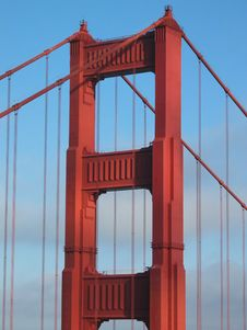 Free Golden Gate Bridge Tower Stock Image - 259371