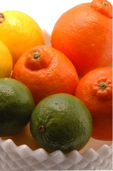 Free Three Citrus In White Bowl Royalty Free Stock Photos - 259608
