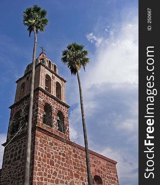Church and Palms