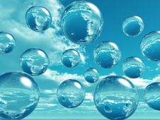 Free Water Balls Royalty Free Stock Image - 2500336